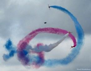 Red arrows display, Falmouth, Cornwall. Photo copyright: David Bartholomew