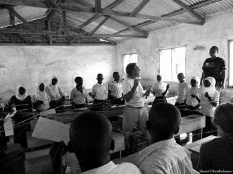 Teaching in Lupiro primary school, Lupiro, Tanzania. Photo copyright: David Bartholomew