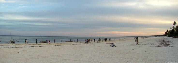 Sunset beach football, Matemwe beach, Zanzibar