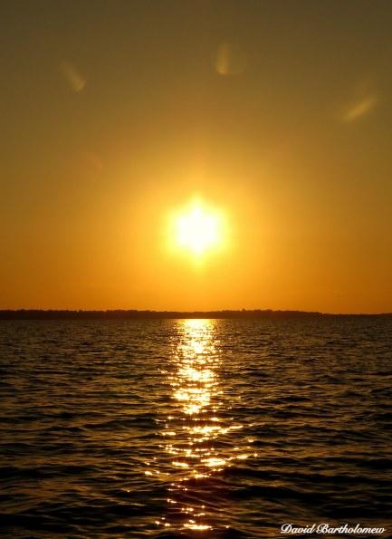 Sunset over Baía de Caxiuanã, Para, Brazil. Photo copyright: David Bartholomew