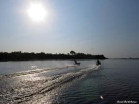 Teenagers racing boats in Eastern Amazonia, Para, Brazil. Photo copyright: David Bartholomew
