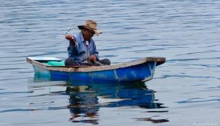 Local artisanal fisher, Lake Toba, Sumatra, Indonesia. Photo copyright: David Bartholomew