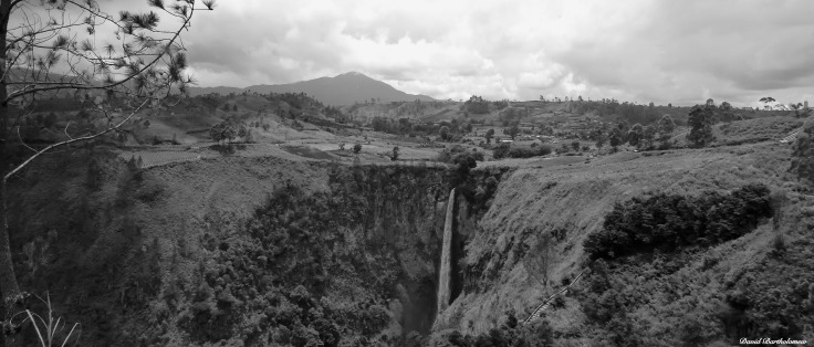 Sipisopiso waterfall, Lake Toba, Sumatra, Indonesia. Photo copyright: David Bartholomew