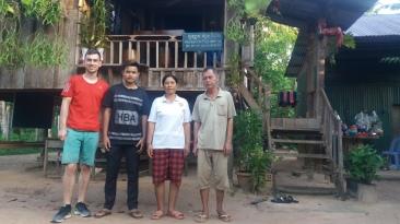 My host family at my homestay. Photo copyright: David Bartholomew