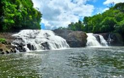 After a long trek, a rewarding waterfall awaits. Photo copyright: David Bartholomew